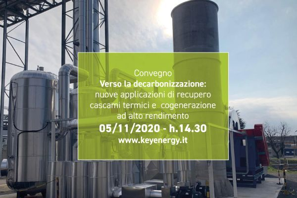 Speech all'interno del convegno digitale di Key Energy, giovedì 05/11 14.30-17.30