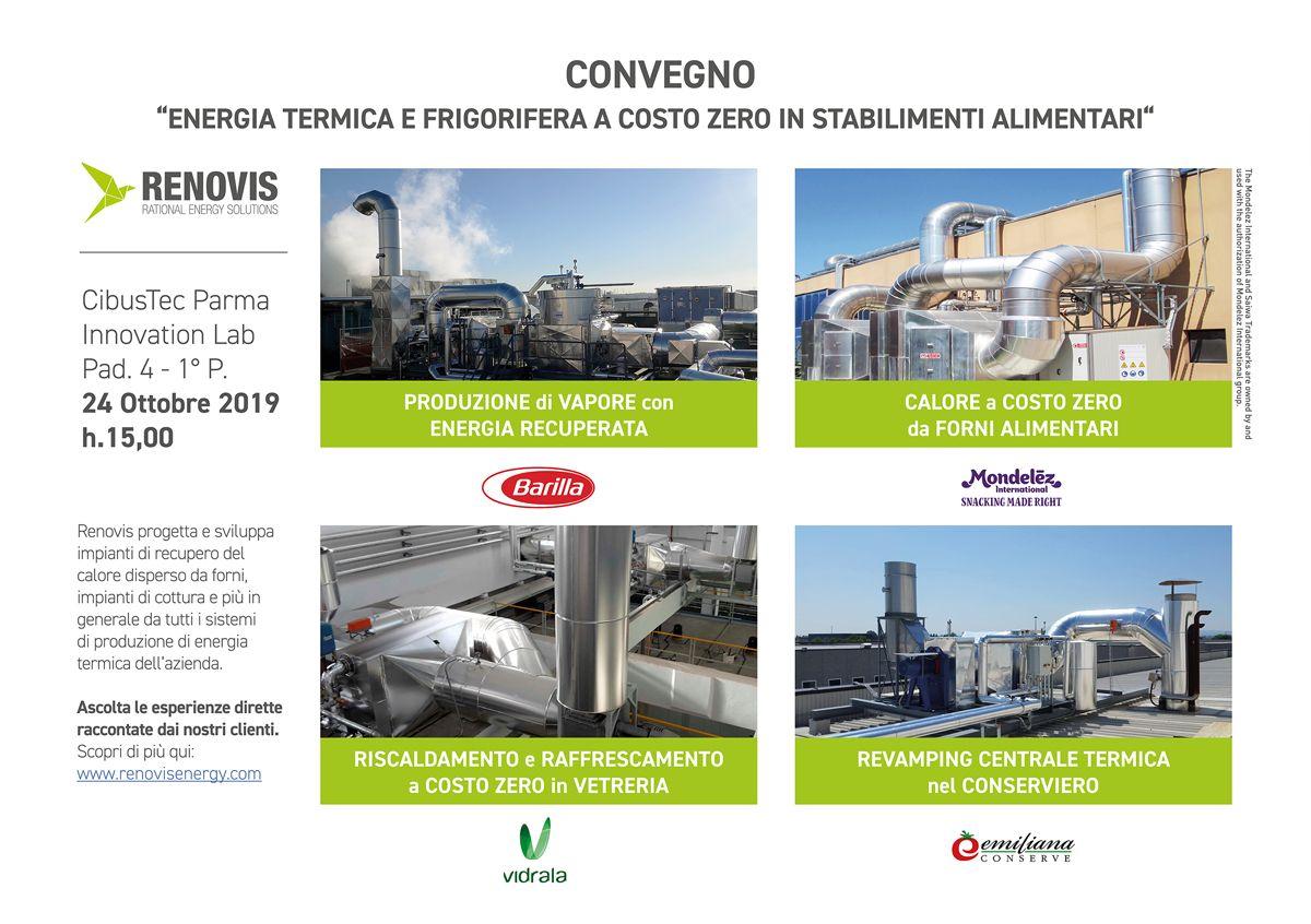 Convegno: Energia Termica e Frigorifera a Costo Zero in Stabilimenti Alimentari