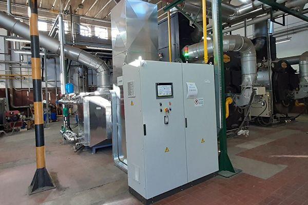 Produzione efficiente di vapore nell'industria tessile
